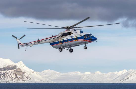 俄坠海直升机残骸水下209米被发现 8人或全遇难