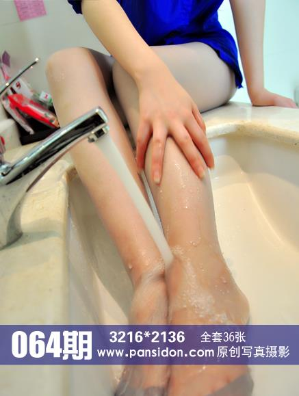 [PANS盘丝洞写真]NO.064期 蓝色衬衫小美女白色丝袜美腿性感私房写真集