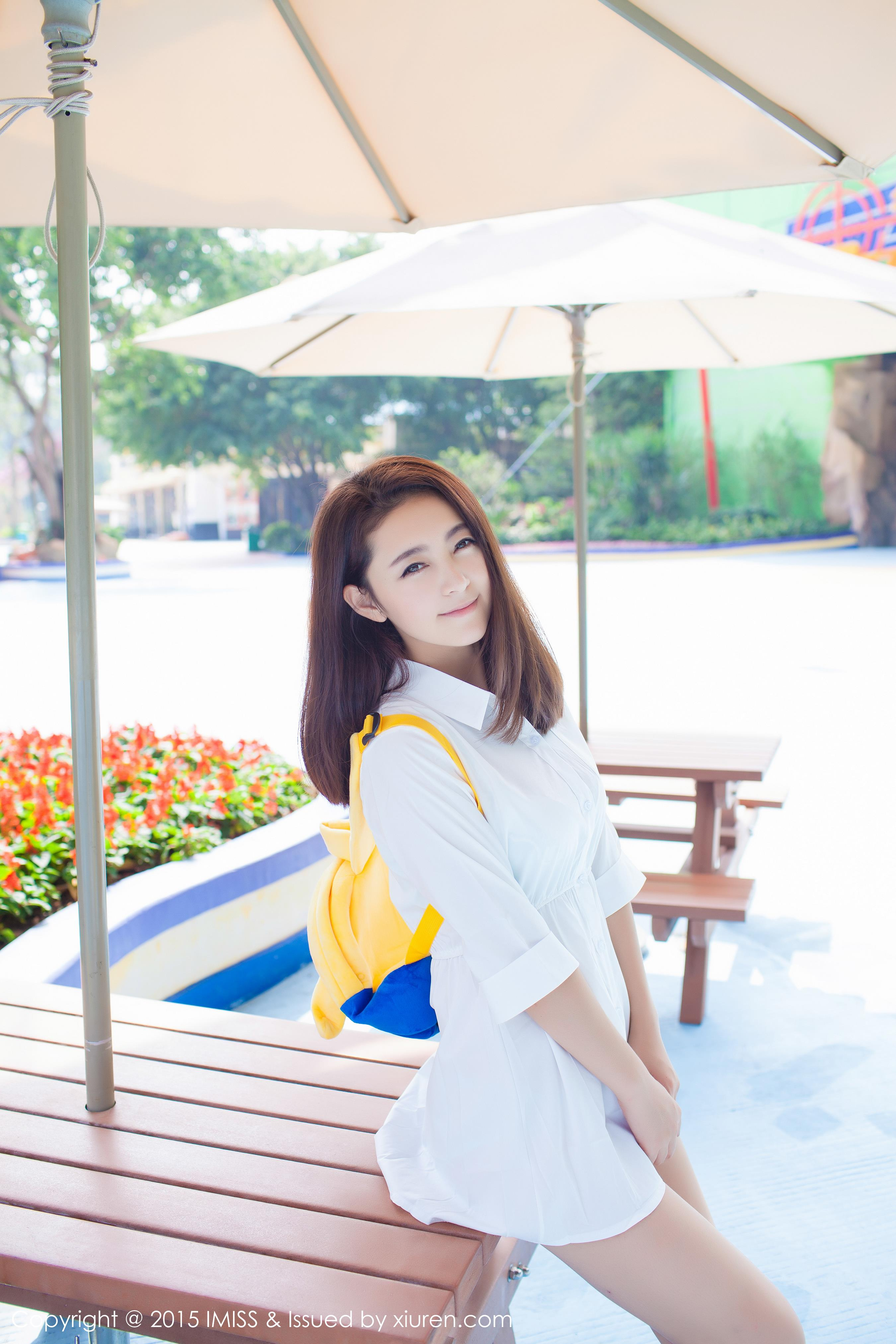 [IMISS爱蜜社]IMS20151217VOL0053 夏茉GIGI 白色衬衫加性感内衣与比基尼泳装私房写真集