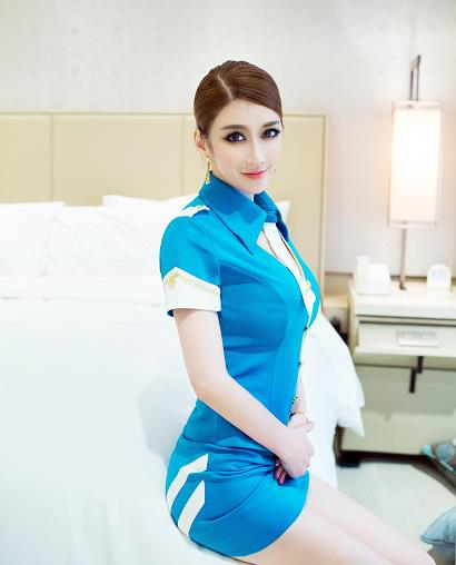 [TuiGirl推女郎]No.033 陆瓷 性感空姐制服与全裸玉体私房写真集