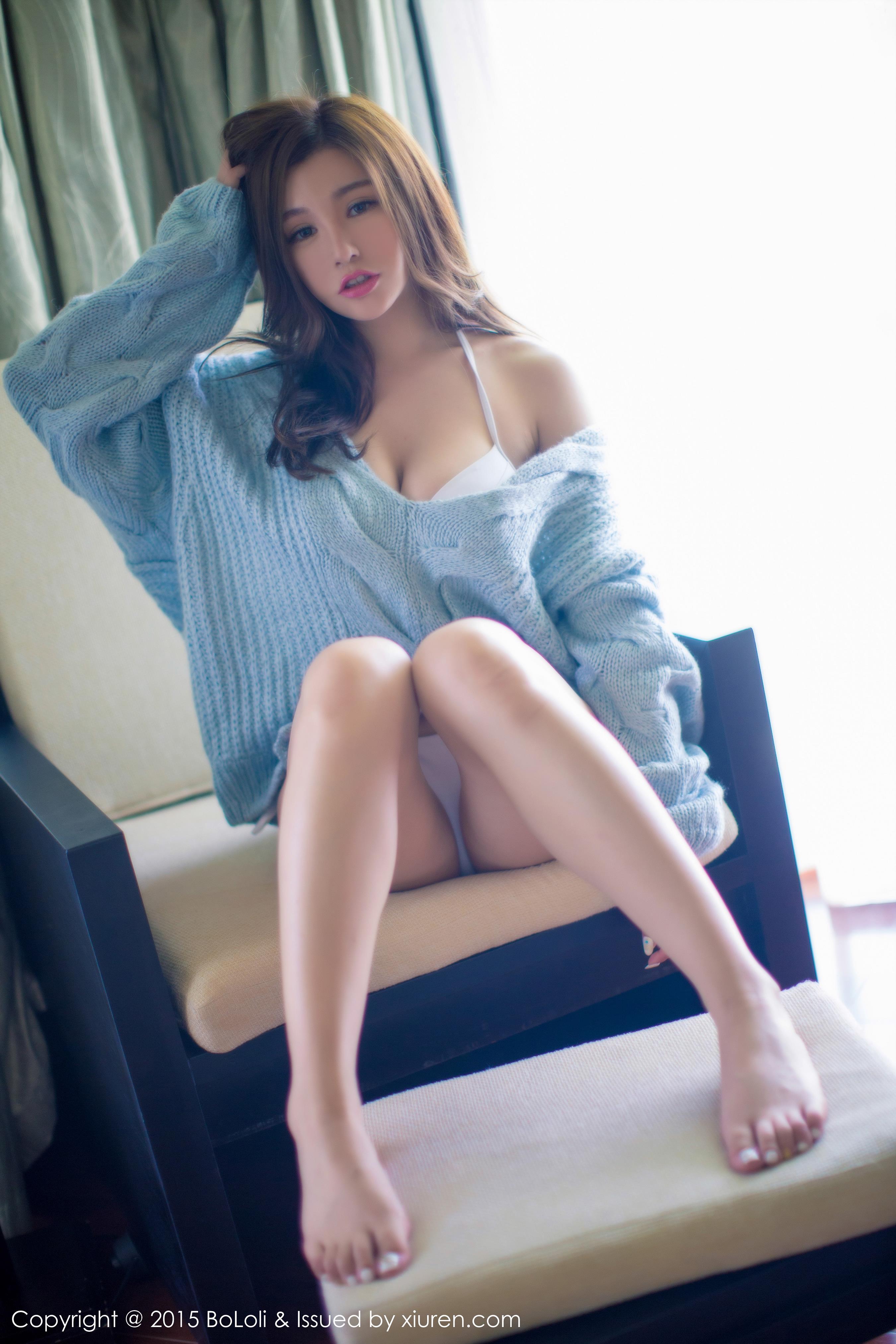[BoLoli波萝社]BLS20150628VOL0037 刘娅希 白色性感内衣与束胸比基尼泳装私房写真集