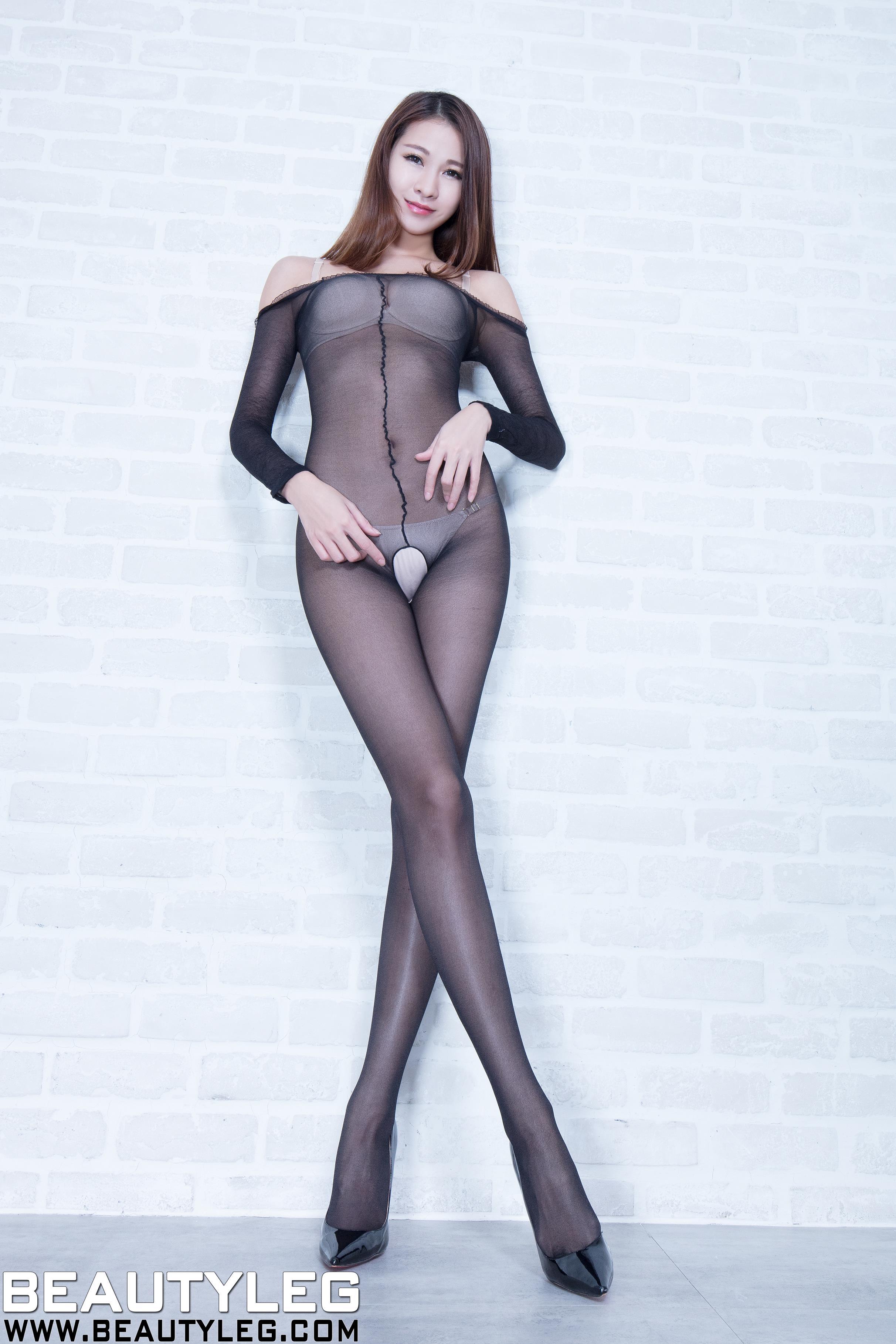[beautyleg美腿写真]No.1615 Neko 性感内衣与黑色连身情趣开裆丝袜私房写真集
