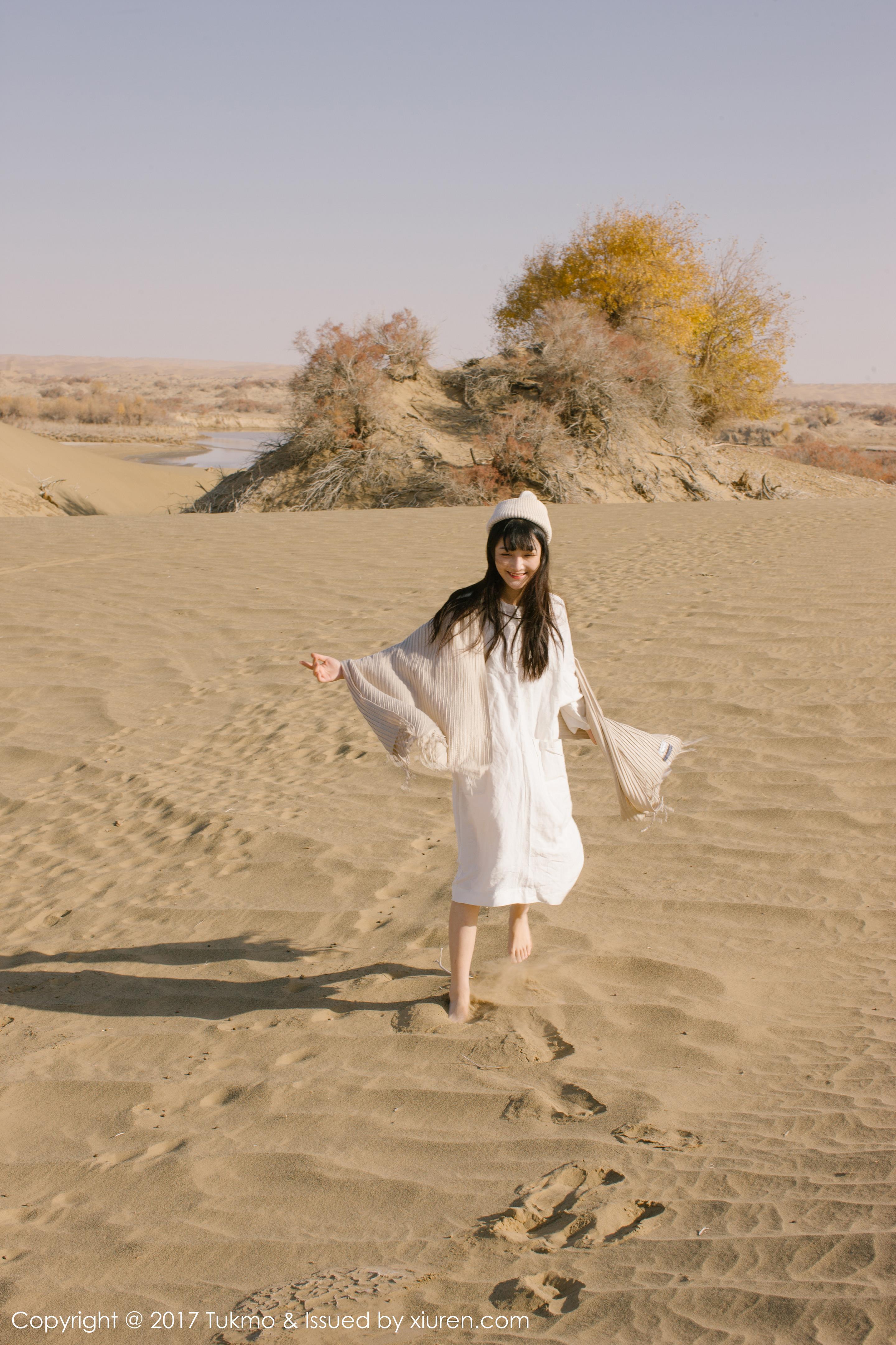 [Tukmo兔几盟]TKM20170914VOL0102 清纯可爱小萝莉 之应 白色连衣裙戈壁沙漠私房写真集