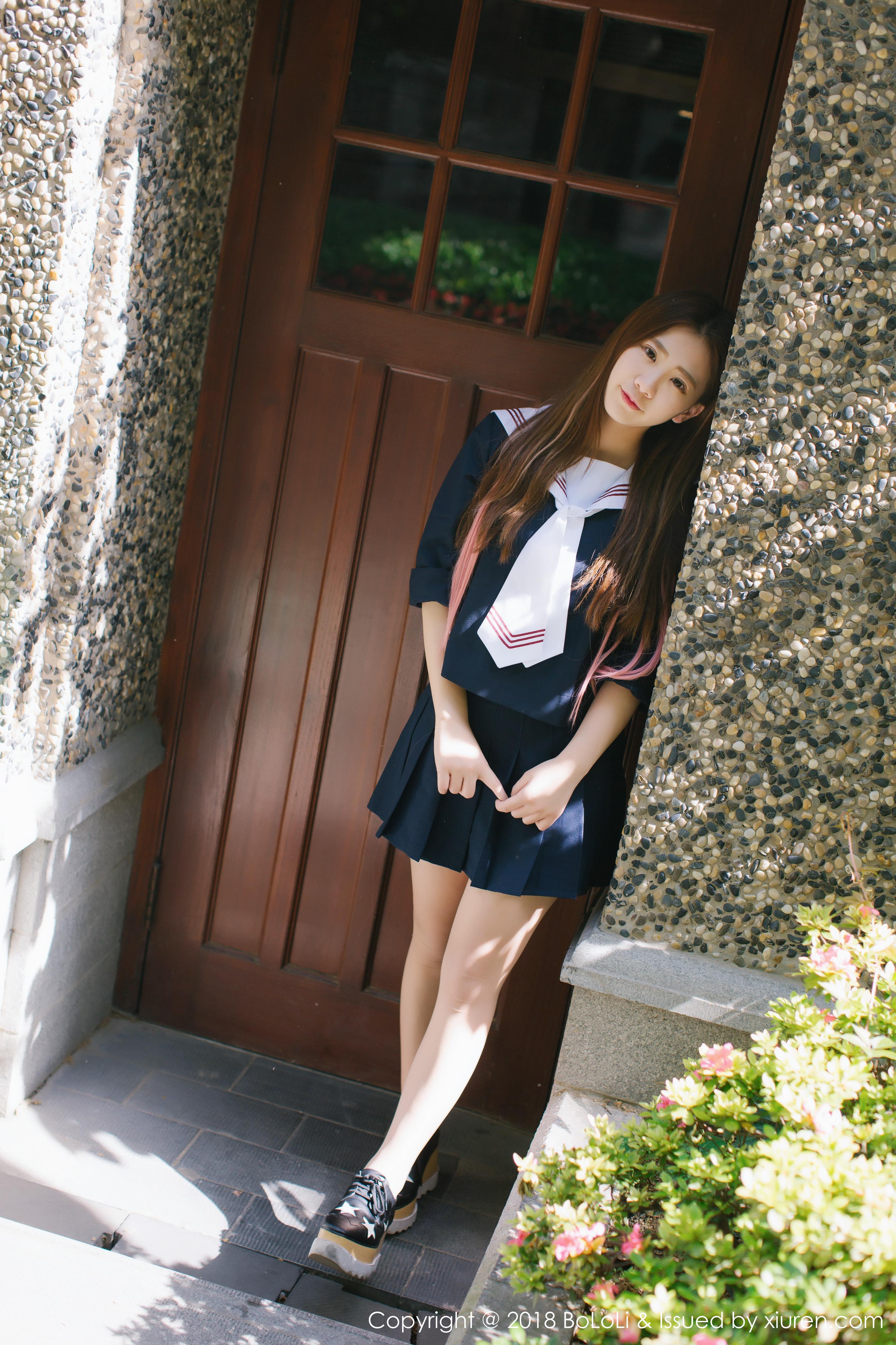 [BoLoli波萝社]BLS20180207VOL0107 清纯可爱小萝莉 董成丽 高中女生制服私房写真集