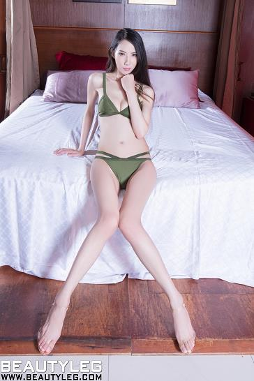 [beautyleg美腿写真]No.1698 Yoyo 性感内衣加白嫩修长美腿玉足私房写真集