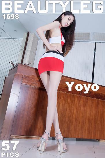 [beautyleg美腿写真]No.1698 Yoyo 红白赛车女郎制服短裙加肉色丝袜美腿性感私房写真集