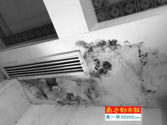 340万别墅样板间漏水墙发霉 地板开裂天花板脱落