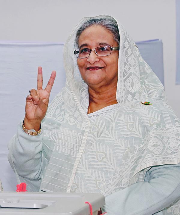 孟加拉国大选结果出炉 谢赫·哈西娜再次当选总理