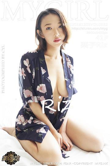 [MyGirl美媛馆]MYG20181205VOL0332 栗子Riz 白色情趣旗袍与蓝色透视睡衣性感私房写真集