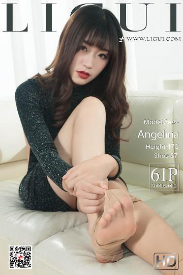 [Ligui丽柜会所]2019-01-30 Model Angelina 黑色紧身裸背连衣裙加肉色丝袜美腿玉足性感私房写真集