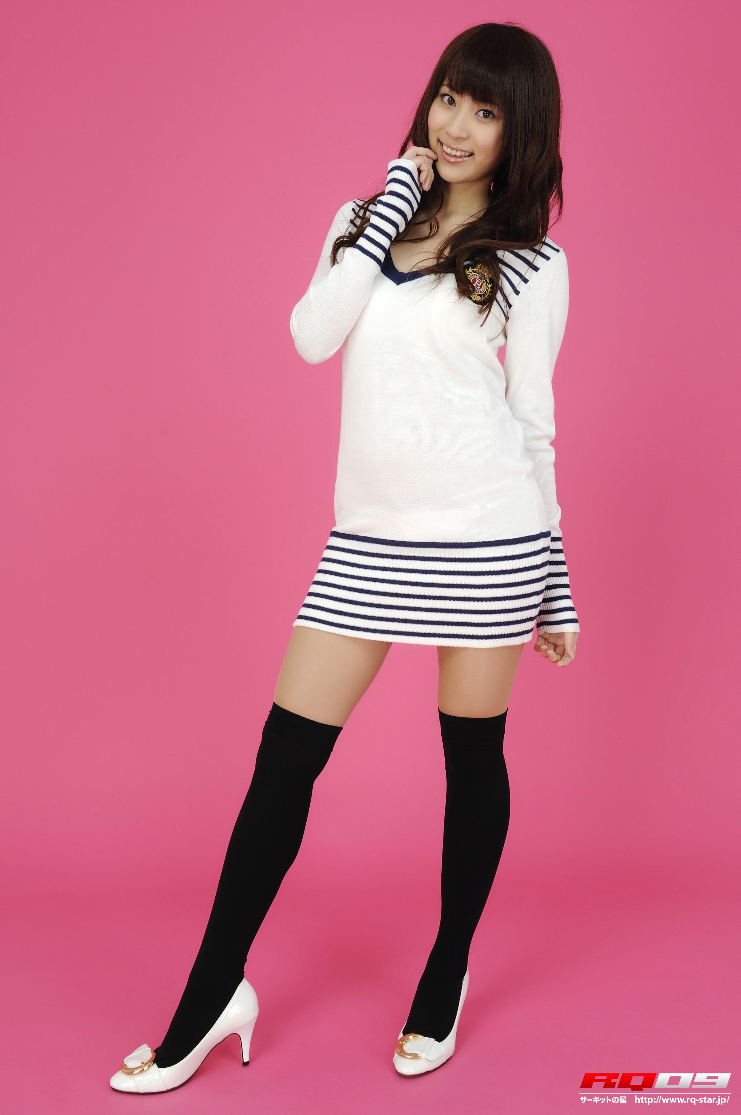 [RQ-STAR写真]NO.00140 林杏菜 Anna Hayashi 白色连衣裙加黑色丝袜美腿性感私房写真集