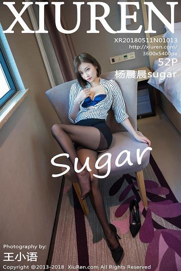 [XIUREN秀人网]XR20180511N01013 杨晨晨sugar 黑色短裙与蓝色蕾丝内衣加黑色丝袜美腿性感私房写真集