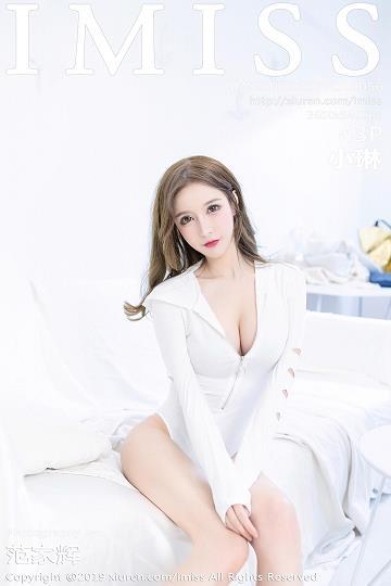[IMISS爱蜜社]IMS20190404VOL0336 小琳 粉色连衣裙与紧身连体衣加蕾丝内衣性感私房写真集