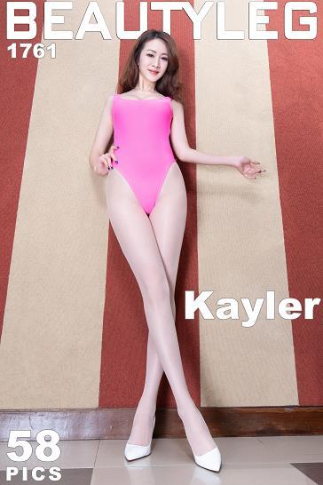 [beautyleg美腿写真]No.1761 Kaylar 红色连体裸背比基尼泳装加肉色丝袜美腿性感私房写真集