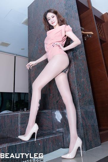 [beautyleg美腿写真]No.1761 Kaylar 粉色无袖礼裙加肉色丝袜美腿性感私房写真集