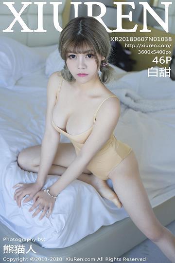 [XIUREN秀人网]XR20180607N01038 白甜 橙色连体比基尼泳装与半裸性感玉体私房写真集