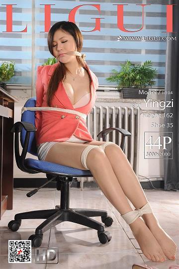 [Ligui丽柜会所]2019-05-05 捆绑束缚性感女秘书 英子 红色OL制服与短裙加肉色丝袜美腿私房写真集