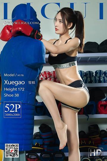 [Ligui丽柜会所]2019-05-06 拳击女郎 雪糕 黑色运动内衣加肉色丝袜美腿性感私房写真集