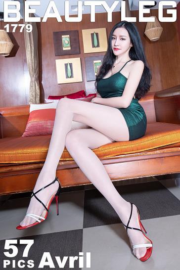 [beautyleg美腿写真]No.1779 Avril 吊带紧身裸背连衣裙加肉色丝袜美腿性感私房写真集