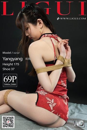 [Ligui丽柜会所]2021-02-12 捆绑束缚 阳阳 红色情趣旗袍加肉丝美腿性感私房写真集